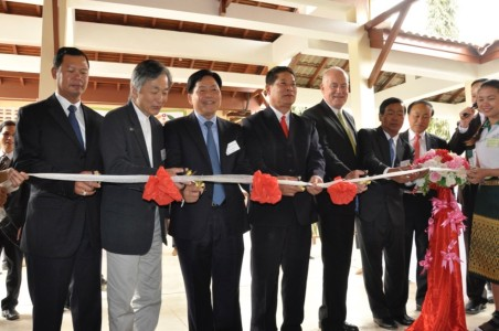 Lao ribbon cut